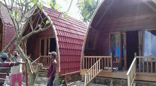 villa lumbung kayu