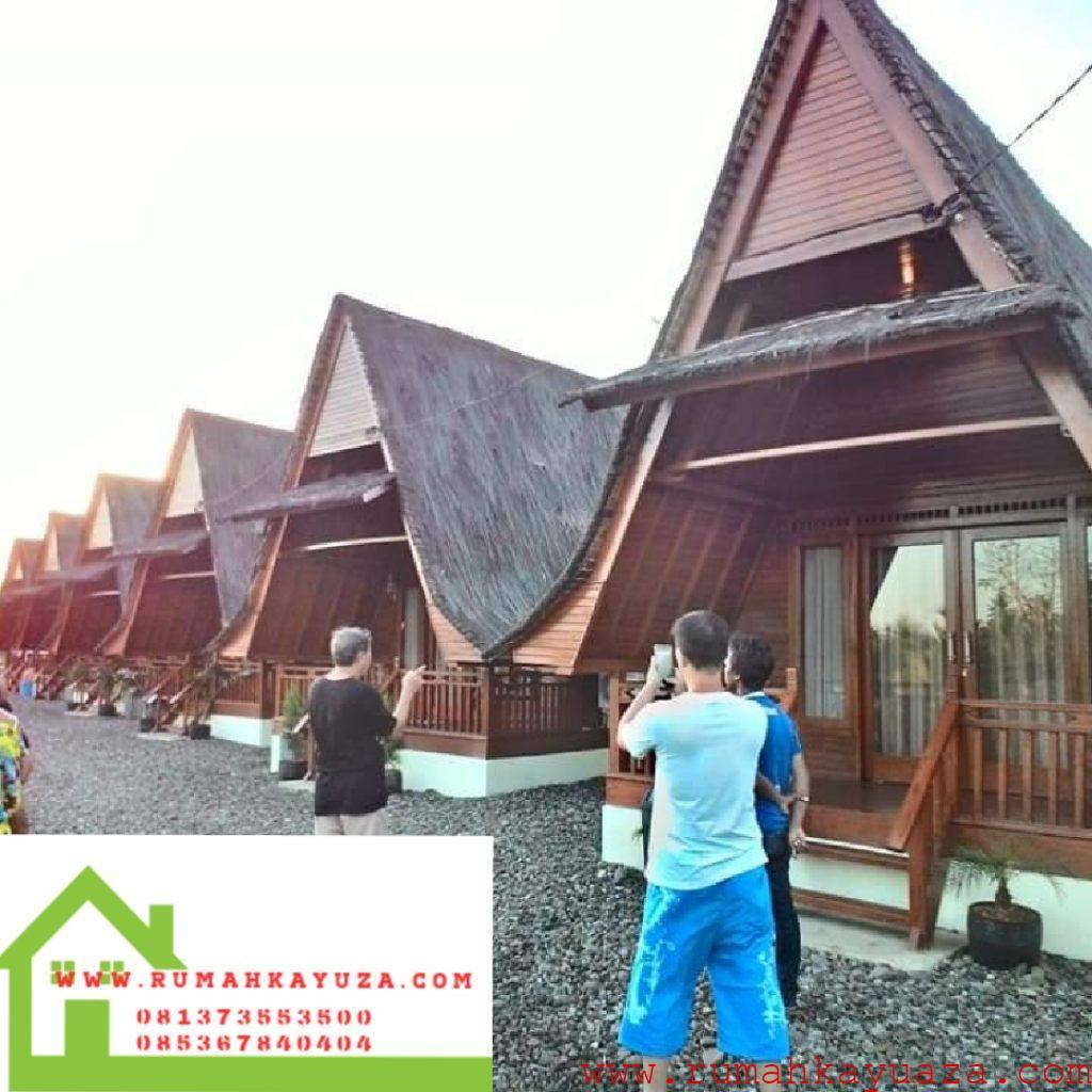 villa kayu1 1024x1024 - Rumah Kayu Orderan Mbak Syifa,Pangandaran,Jawa Barat