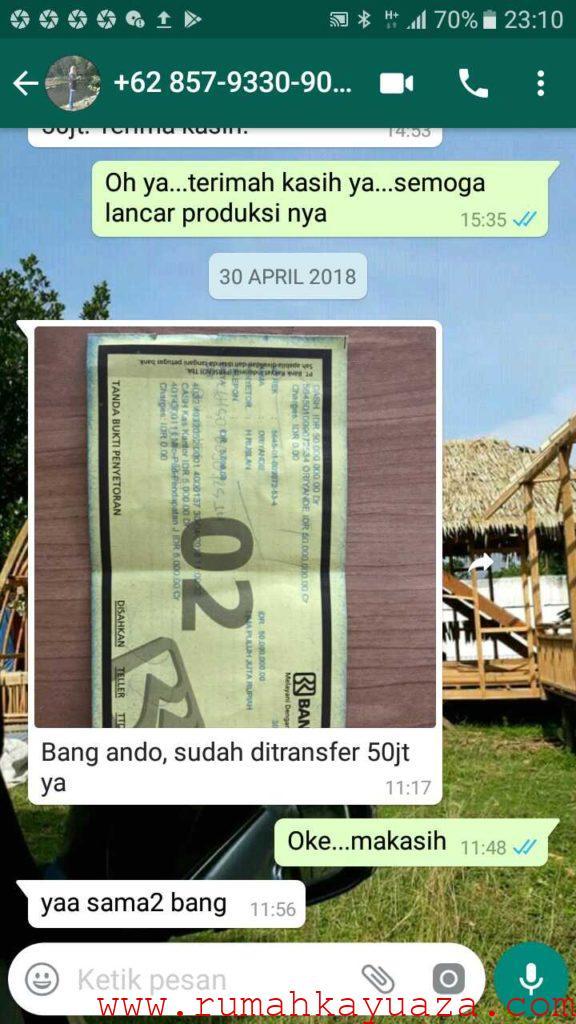 IMG 20180616 WA0056 576x1024 - Testimoni Pemesanan Rumah Kayu Bongkar Pasang