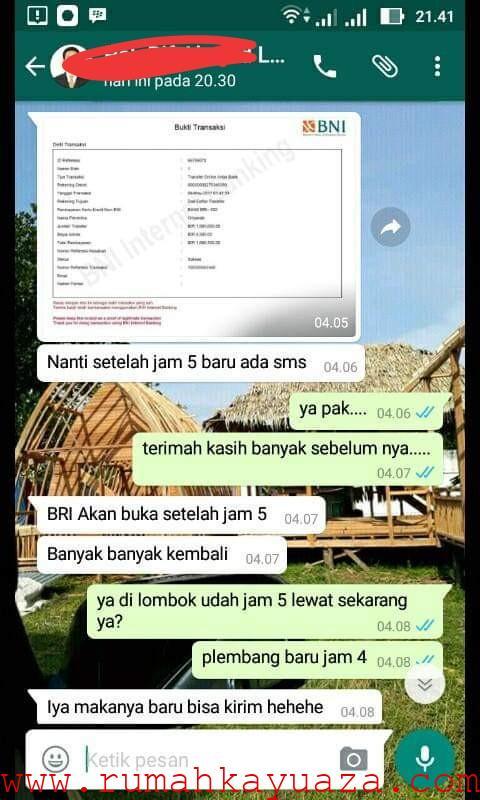 IMG 20190711 040900 - Testimoni Pemesanan Rumah Kayu Bongkar Pasang