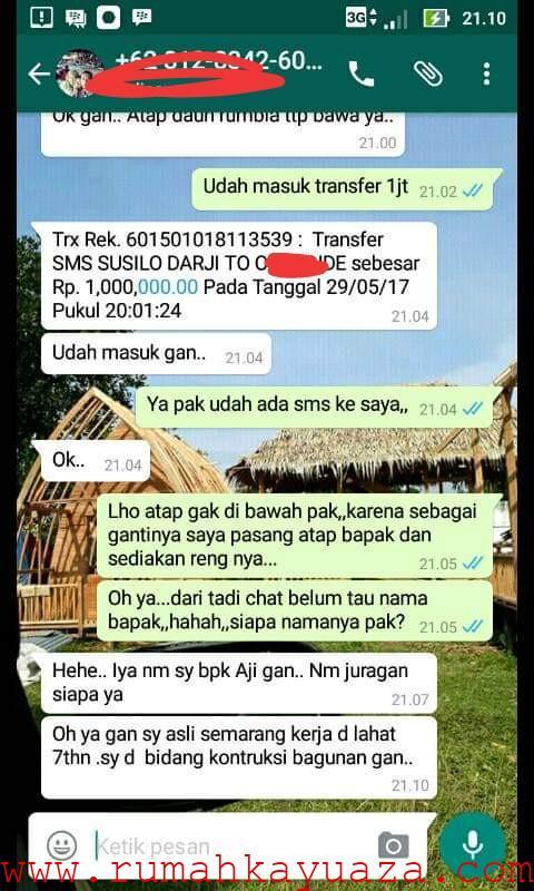 IMG 20190711 040919 - Testimoni Pemesanan Rumah Kayu Bongkar Pasang