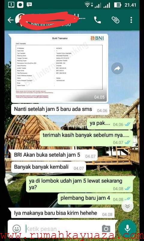 IMG 20190711 041008 - Testimoni Pemesanan Rumah Kayu Bongkar Pasang