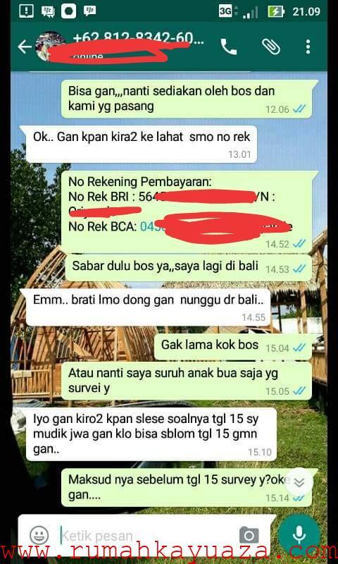 IMG 20190711 041120 - Testimoni Pemesanan Rumah Kayu Bongkar Pasang
