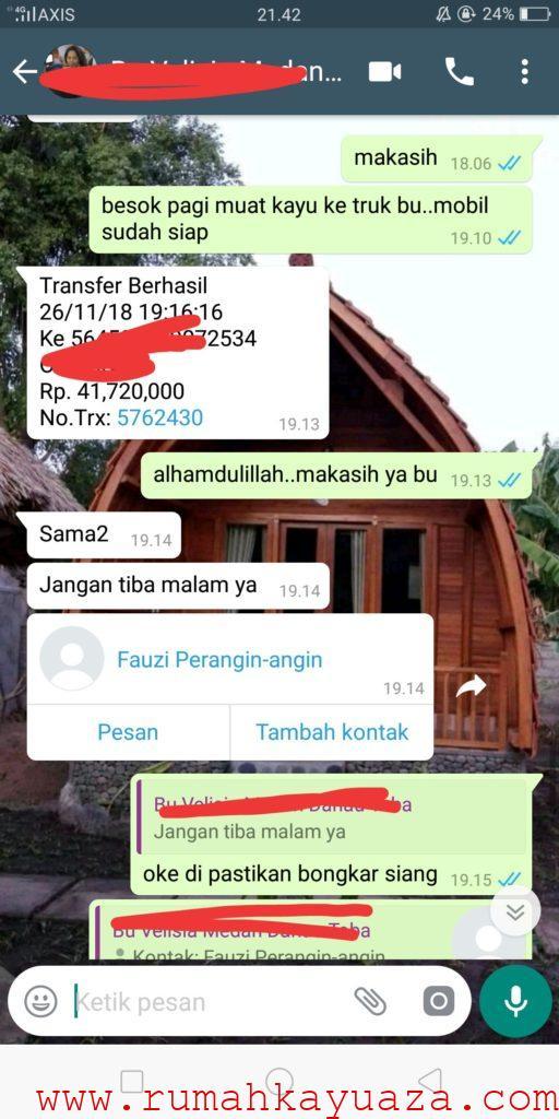 IMG 20190711 041451 512x1024 - Testimoni Pemesanan Rumah Kayu Bongkar Pasang