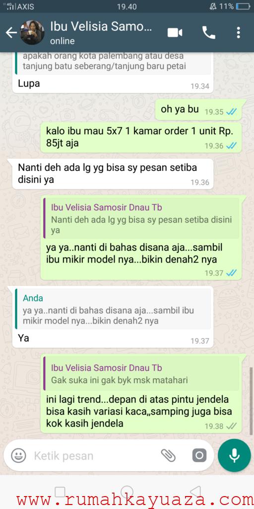 Screenshot 2018 10 30 19 40 38 41 512x1024 - Testimoni Pemesanan Rumah Kayu Bongkar Pasang