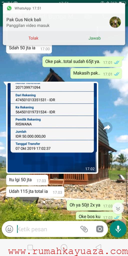Screenshot 2019 10 07 17 51 05 15 512x1024 - Testimoni Pemesanan Rumah Kayu Bongkar Pasang