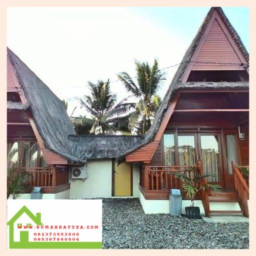 rumah kayu kumbung murah