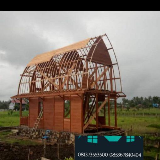 rumah kayu bongkar pasang palembang