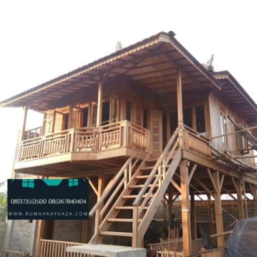 rumah kayu dijual