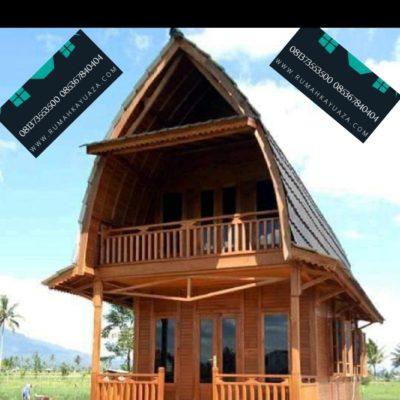rumah kayu palembang 2 lantai